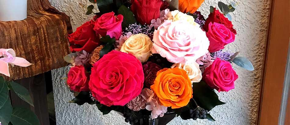 ご入居御祝いの贈り物 気持ちを込めて、大輪のバラ