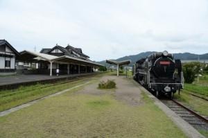 旧大社駅 ホームよりD51