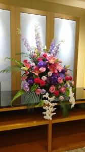 前橋汀子さんの舞台花